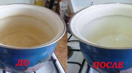 Как отмыть пригоревшую кастрюлю эмалированную