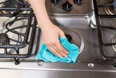 Как отмыть плиту из нержавейки, лучшие домашние средства