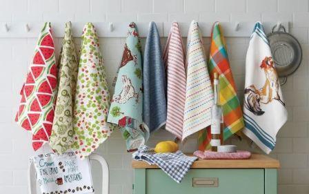 Чем начисто отстирать от пятен кухонные полотенца