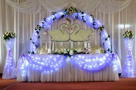 Светодиодное оформление свадьбы