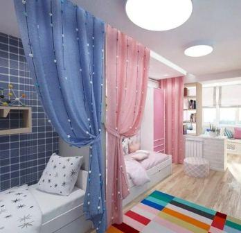 Как разделить комнату для мальчика и девочки